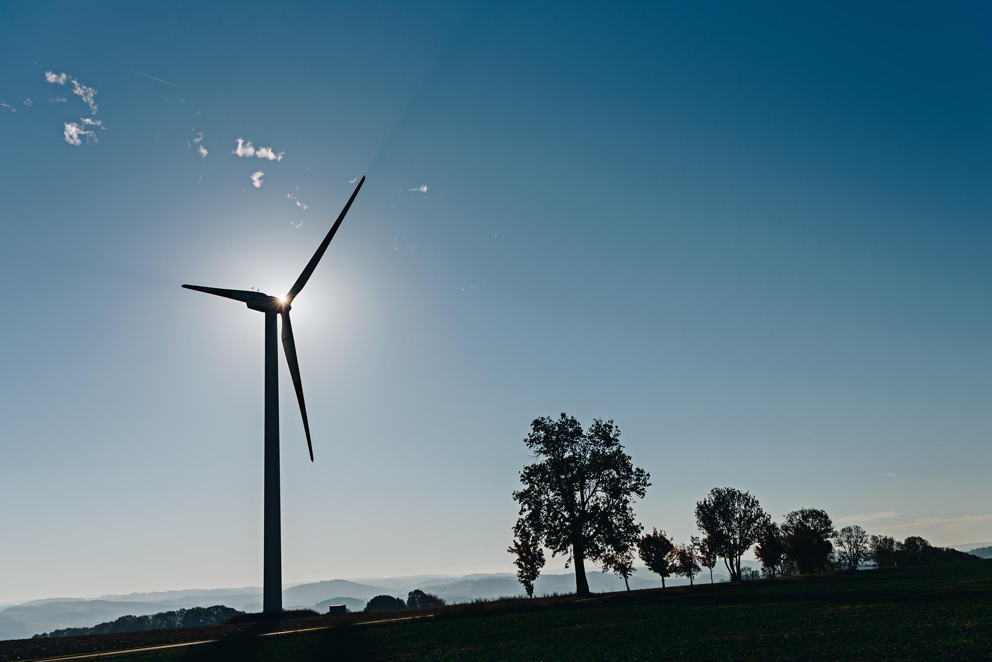 Auszeit bei den Windrädern